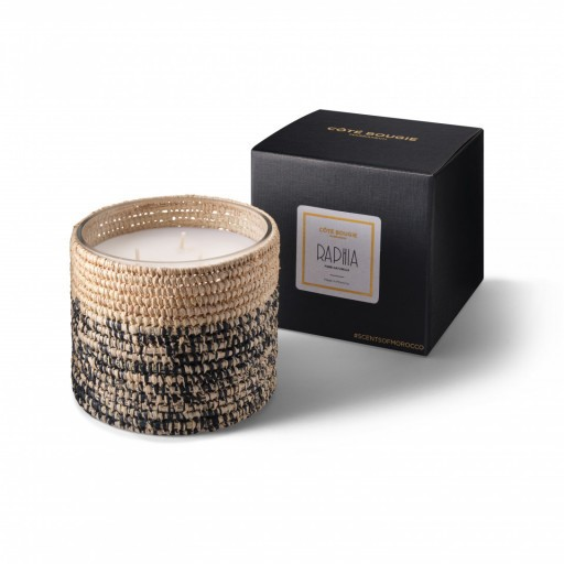 Rita scented candle from the raffia collection Medium size with packaging box