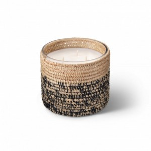Rita scented candle from the raffia collection Medium size
