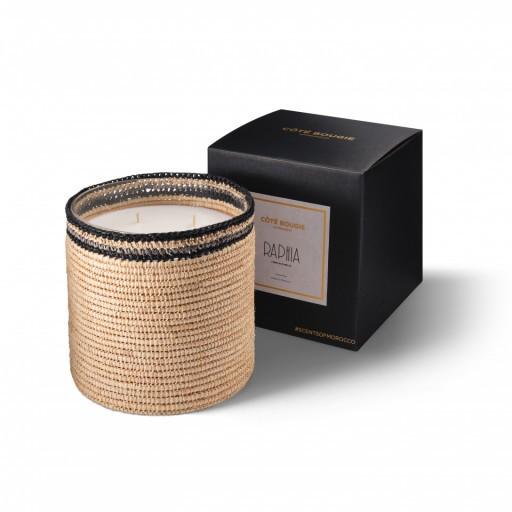 Janna scented candle from the raffia collection Large size with packaging box