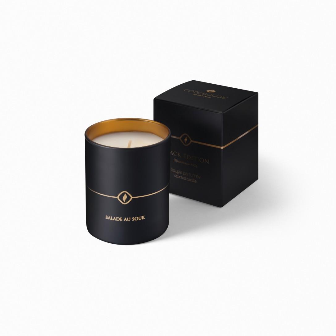 Bougie de luxe Balade au souk de la collection bougies noires