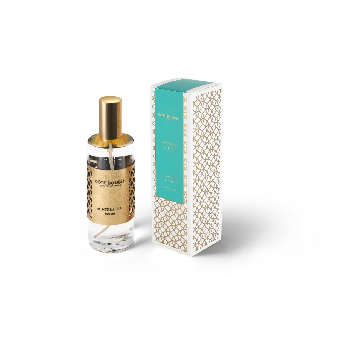 spray d'interieur avec la senteur Menthe & thé de la collection parfums d'ambiance