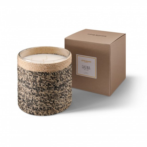 Rita big scented candle from the raffia collection XLarge size with packaging box