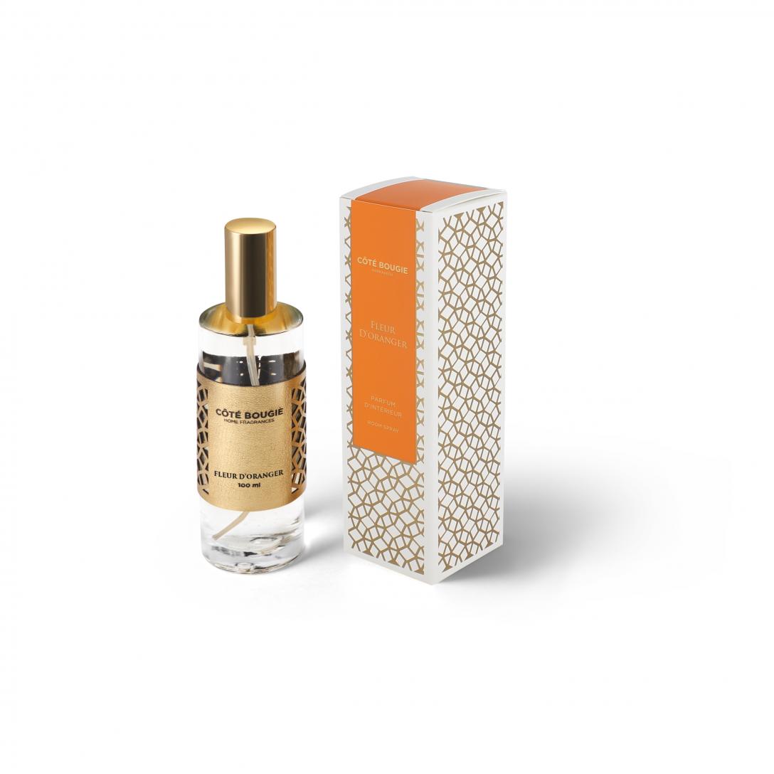 spray d'interieur avec la senteur Fleur d'oranger de la collection parfums d'ambiance