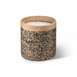 Rita big scented candle from the raffia collection XLarge size