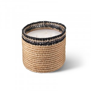 Janna scented candle from the raffia collection Medium size