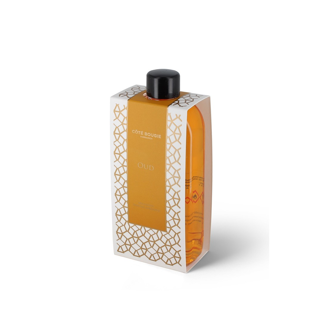 reed diffuser refill with oud scent