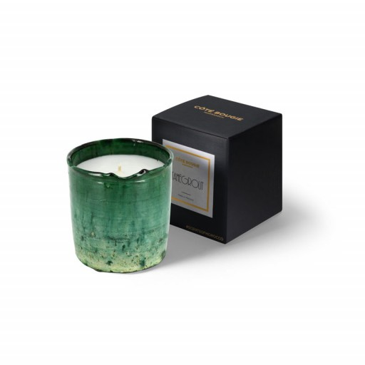 scented candle from the Tamegrout collection in pottery candle holder Small size with black packaging box