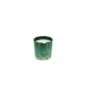 scented candle from the Tamegrout collection in pottery candle holder Small