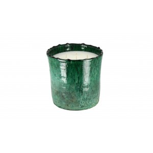 scented candle from the Tamegrout collection in pottery candle holder Large size