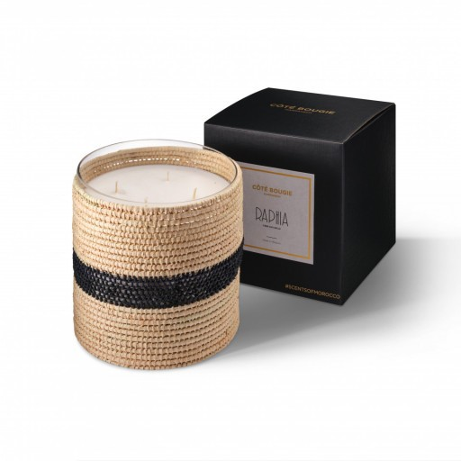Zayna scented candle from the raffia collection Large size with packaging box