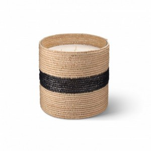 Zayna big scented candle from the raffia collection XLarge size