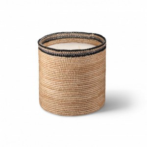 Janna big scented candle from the raffia collection XLarge size