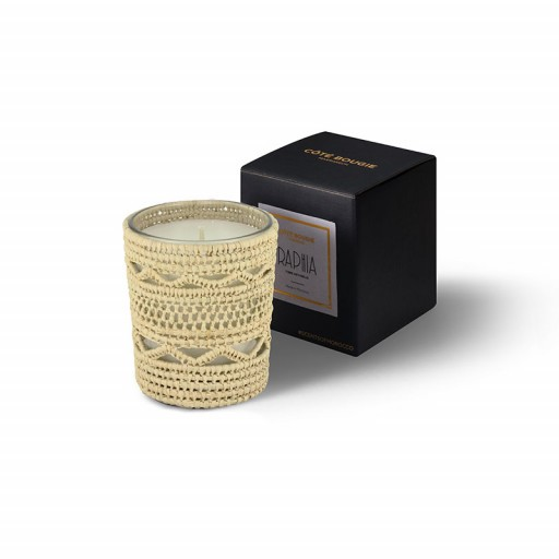Dina scented candle from the raffia collection Small size with packaging box