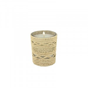 Dina scented candle from the raffia collection Small size