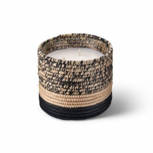 Mogador scented candle from the raffia collection Medium size