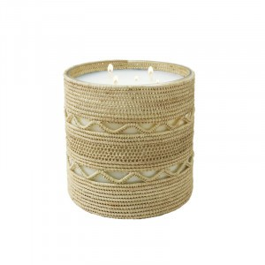 Dina big  scented candle from the raffia collection XLarge size