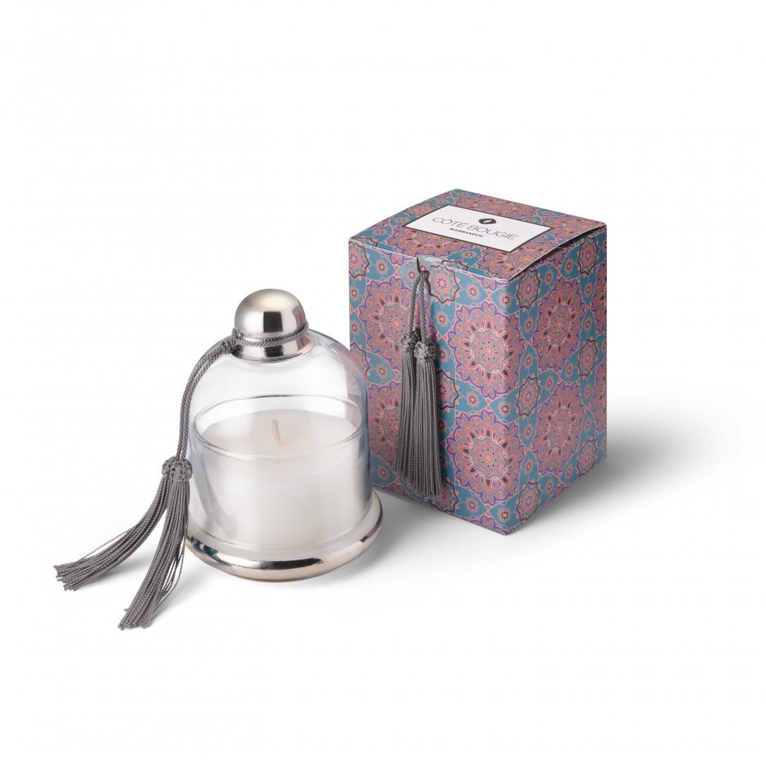 Grey bell jar candle