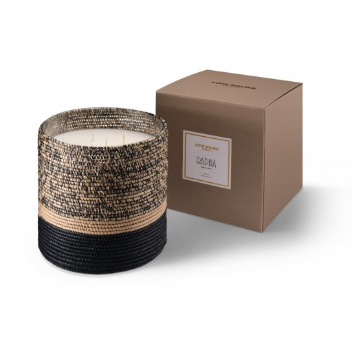 Mogador scented candle from the raffia collection XLarge size with packaging box