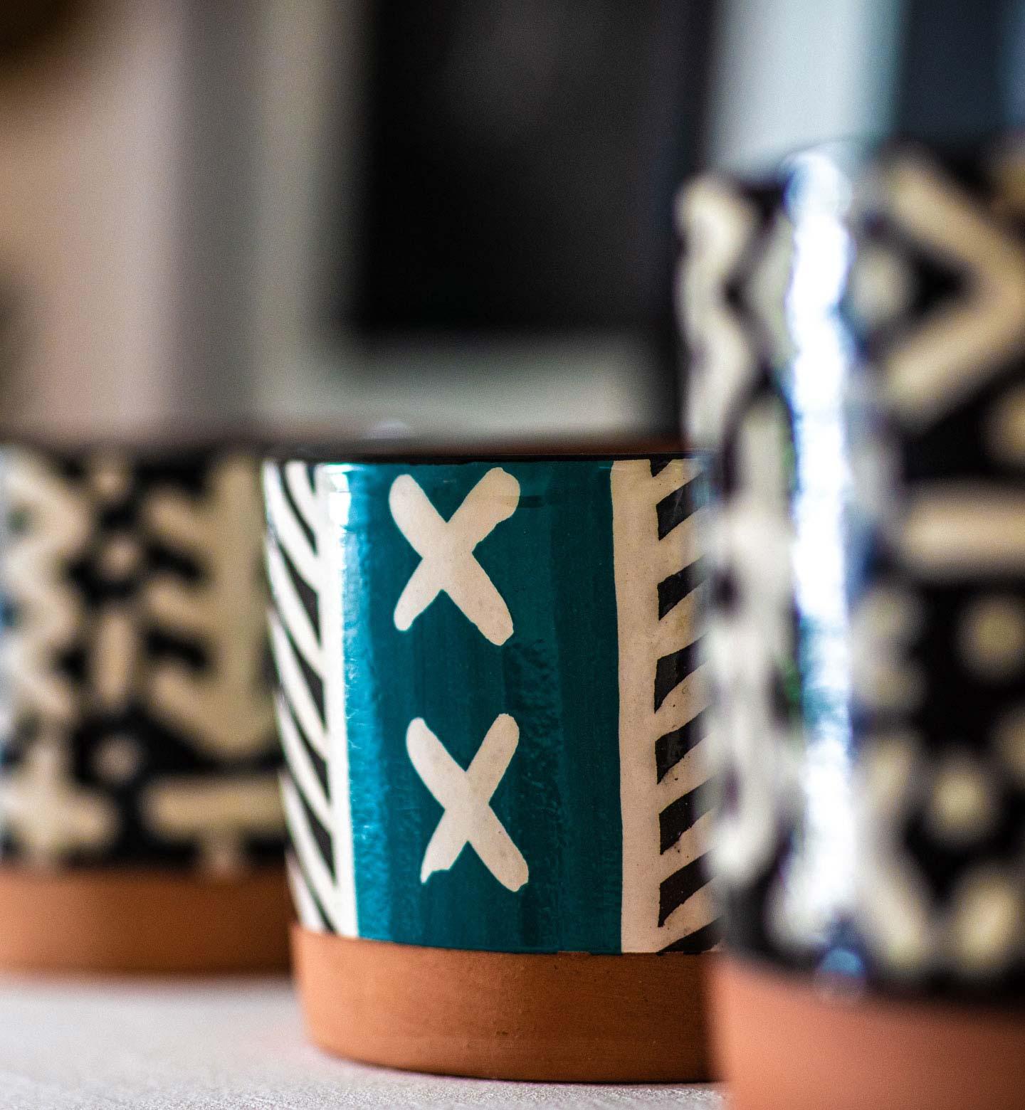 la collection qui represente la gamme zagora. des bougies conçues par le designer bouchra boudoua